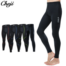 CHEJI 2018 Black Reflective Mtb Road Bike Long Pants Bicycle Tights Wear Padded Breathable Men Cycling Long Pants #CJCK2185