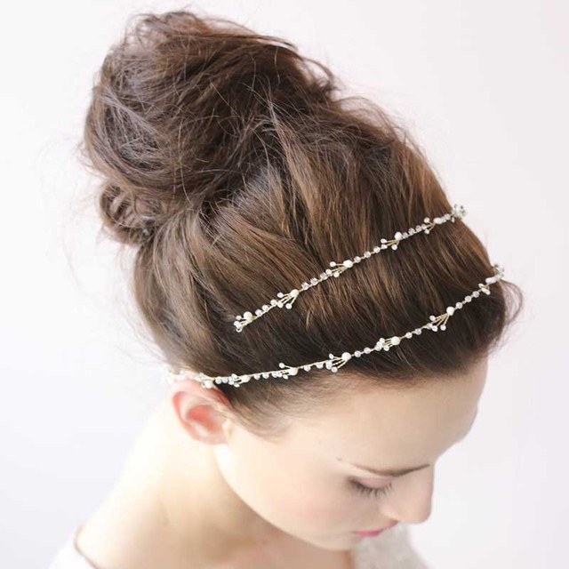 Wedding Bridal Party Crystal Love Gold Tiara Women Simple Headband