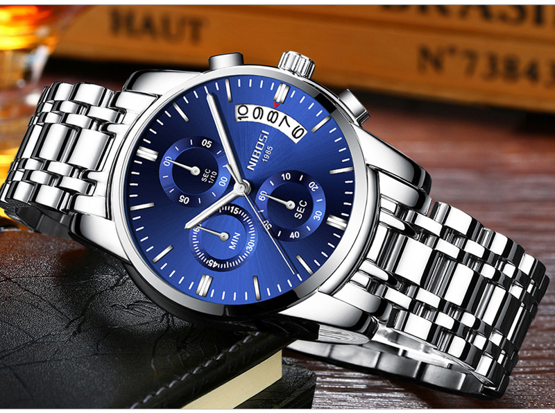 Relogio Masculino NIBOSI Mens Watches Top Brand Luxury Dress Famous Brand Watch Men Waterproof Calendar Luminous Erkek Kol Saati (13)