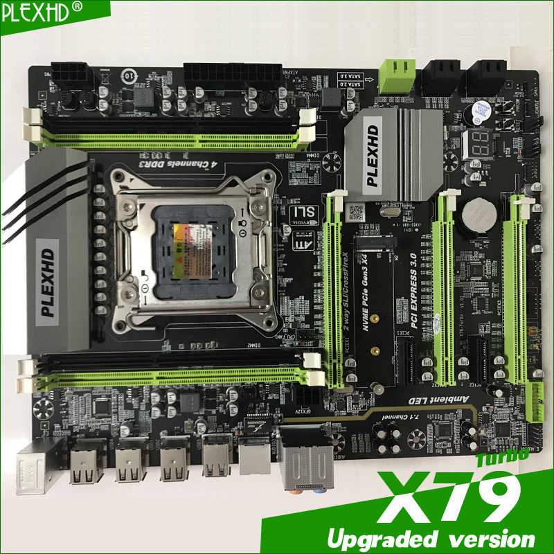 لوحة أم تربو X79 من نوع بليكسهد LGA2011 ATX combos E5 2689 CPU 4 قطعة x 8 جيجا = 32 جيجا DDR3 RAM 1600Mhz PC3 12800R PCI-E NVME M.2 SSD