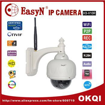 EasyN MegaPixel HD PTZ IP Camera Wifi Wireless Outdoor Dome IP Network Camera security 720P Scurity Camera