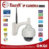 EasyN MegaPixel HD PTZ IP Camera Wifi Wireless Outdoor Dome IP Network Camera Security 720P