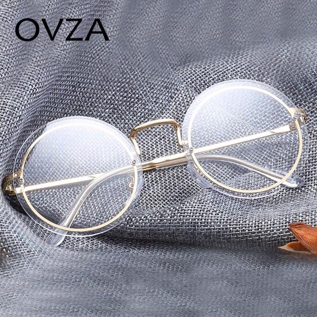 6f57230d00 OVZA 2018 date rétro sans monture lunettes cadre Vintage rond optique cadre  femmes lecture lunettes en
