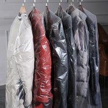 Одноразовый прозрачный пыленепроницаемый пластиковый подвесной мешок для одежды, одежды, костюма, защиты пальто, толщина 0,06 мм AC027
