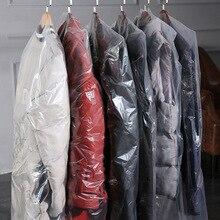 Funda desechable transparente a prueba de polvo, bolsa colgante de plástico para ropa, ropa, traje, Protector de abrigo, grosor de 0,06mm, AC027