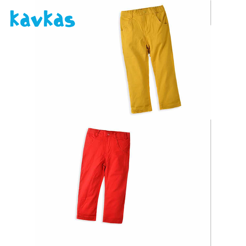 Kavkas Newborn Baby Pants Boy Girl Unisex Striped 100% Cotton Warm Casual Regular Solid Pants For 2-5 Years Old Children
