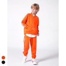 Fashion Boys Streetwear,Teens Retro Street Sports Suit Loose Sweater +Trouser, fast-street Brand for kids Height 110-160 cm
