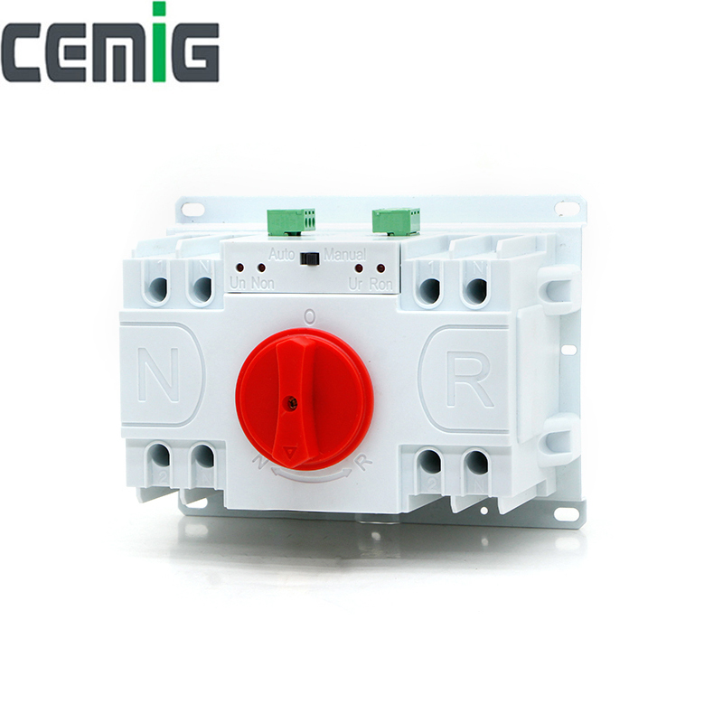 Cemig ATS 2P Dual Power Automatic Transfer Switch SMGQ1-63M/2P Circuit Breaker MCB AC230V 40A 63ACemig ATS 2P Dual Power Automatic Transfer Switch SMGQ1-63M/2P Circuit Breaker MCB AC230V 40A 63A