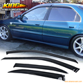 For 1994-1997 Honda Accord Dx Lx Ex Sedan 4Dr Slim Sun Window Visor 1.6MM 4Pcs