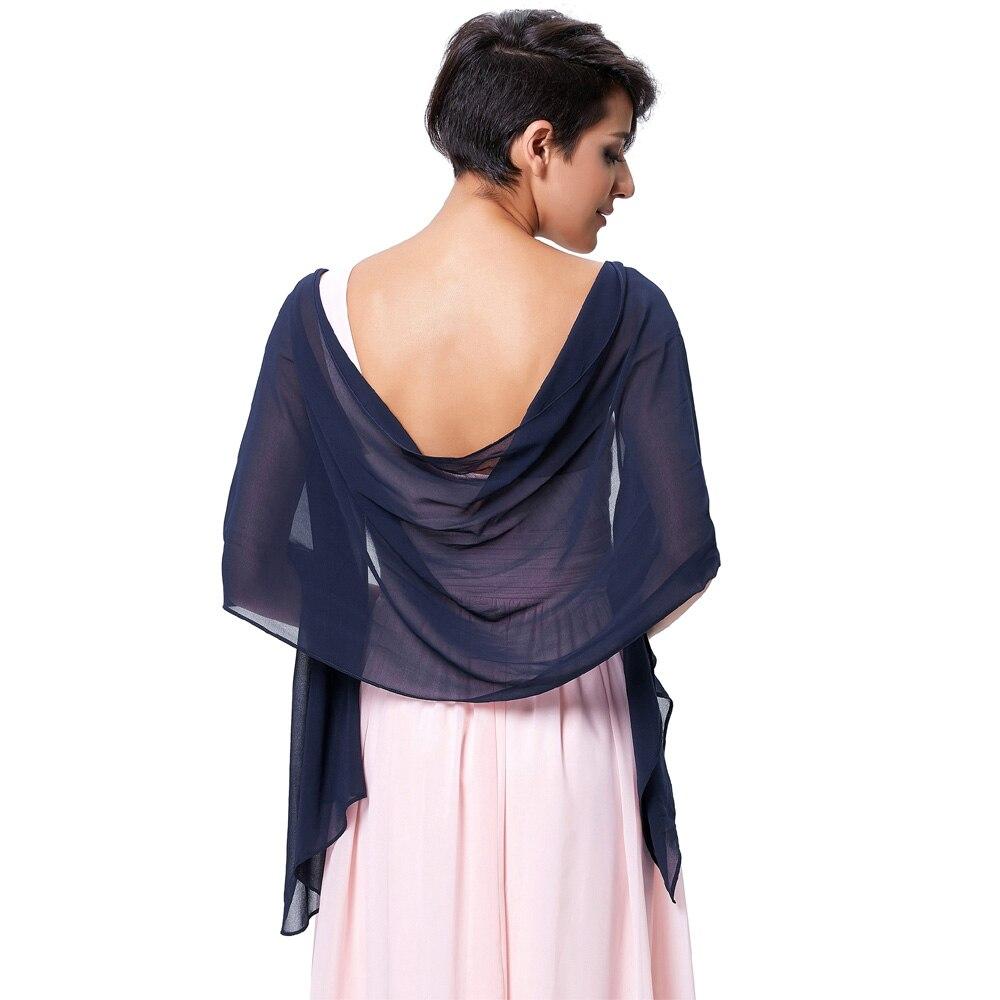 Hot Sale 2017 Elegant Women Long Shawls   Wraps   Bridal Chiffon Colorful   Scarves   For Wedding Evening Party Dress   Wraps   183-46cm