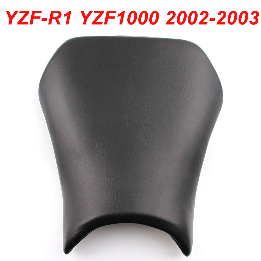 For 02-03 Yamaha YZFR1 YZF-R1 YZF R1 YZF1000 Motorcycle Front Cushion Pillion Passenger Seat Leather Pad Cover 2002 2003 BLACK hot sales for yamaha r1 fairings yzfr1 2007 2008 yzf r1 yzf r1 yzf1000 r1 07 08 red black abs fairings injection molding