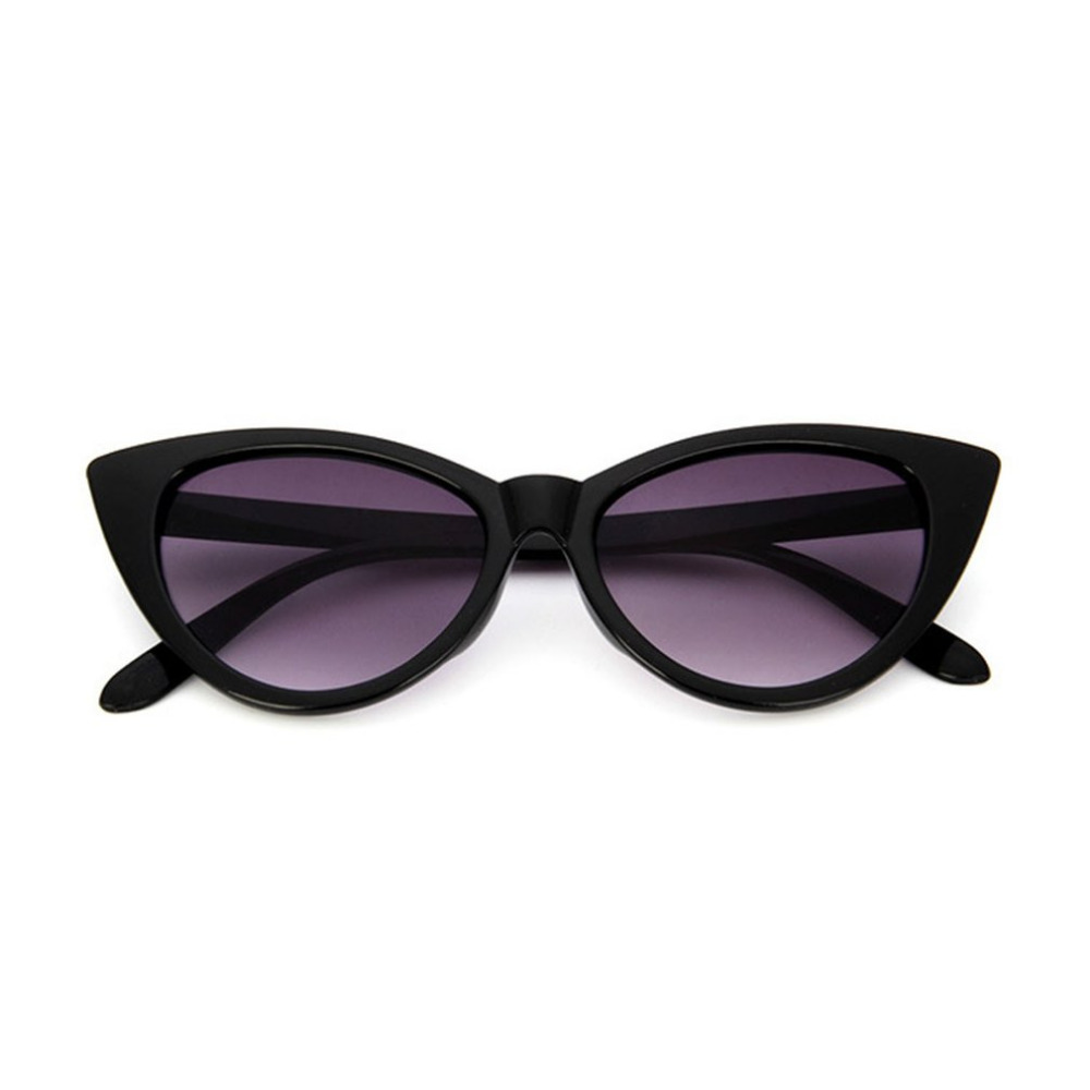 Fashion Retro Thick Frame Cat Eye Sunglasses Women Ladies Fashion Brand Designer Mirror Lens Cateye Sun Glasses For Female