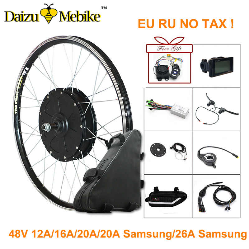 "48V 1000W Electric Bike Conversion Kit 700C 26"" Rear Motor Wheel for Big City Bike Samsung Electric Bicycle Battery e-bike kit"