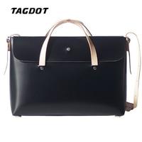 Tagdot Vintage Handmade Harajuku Genuine Leather Laptop Bag 13 13 3 Inch Women Men Crossbody Bag