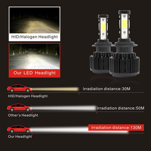 Image 4 - CarTnT 자동차 전조등 전구 H7 LED H1 H4 HB3 5202 9005 HB4 9006 H13 H11 H8 9004 9007 LED 전구 Canbus 100W 16000LM 6000K 12V 24v