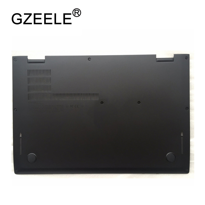 GZEELE New case cover For Lenovo Thinkpad X1 Yoga Bottom Base Cover Lower Case SCB0K40141 00JT837 460.04P01.000 black new case cover for lenovo g500s g505s laptop bottom case base cover ap0yb000h00