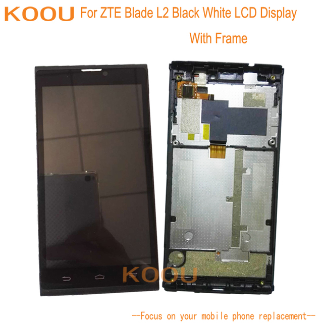 US $18 55 |Aliexpress com : Buy For ZTE Blade L2 LCD Display + Touch Screen  Assembly Replacement Parts Accessories For ZTE Blade L2 With Frame from