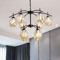 Chandelier for Living Room Bedroom Home Decoration Indoor Lighting Fixtures Hanging Lamps Design Modern Art Creative Light Metal