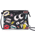 Fashion Messenger bags big eyes Cartoon Printing Envelope bags keys cell phone pocket shoulder bags potato chip banana bag
