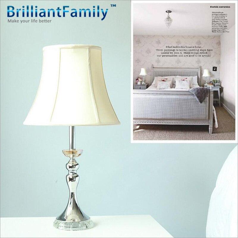 Cristal de luxe lampe de table promotion achetez des for Lampe de chevet cristal