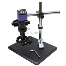Best price HDMI HD USB Digital Industry Microscope Camera+Fine Adjustment Bracket 360 degree rotation adjustment angle+C-Mount Lens+144 LED