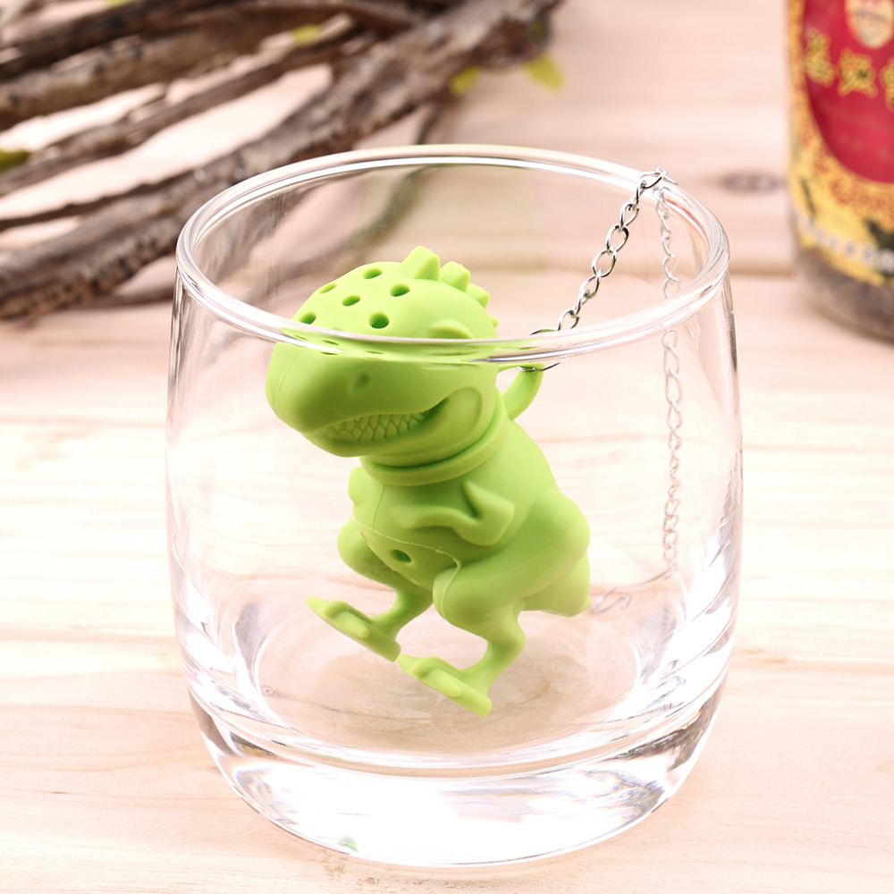 Dinosaur Tea Infuser Loose Leaf Strainer Herbal Silicone Filter Diffuser Worldwide Store