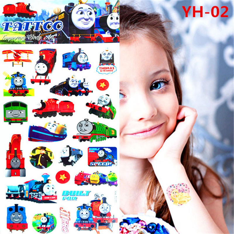 Lovely children Thomas temporary tattoo body art flash tattoos 21 * 10 centimeters waterproof tattoo car modelling wall stickers