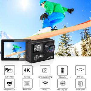 """Image 4 - GEEKAM Action Camera K3R/K3 Ultra HD 4K/30fps 20MP WiFi 2.0"""" 170D Dual Screen Underwater Waterproof Helmet Bike Sports Video Cam"""