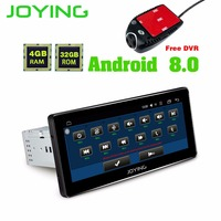 JOYING 1 DIN Autoradio 8.8'' HD screen Android 8 Octa core 4GB RAM Multimedia Player Head Unit stereo with front dash DVR Camera