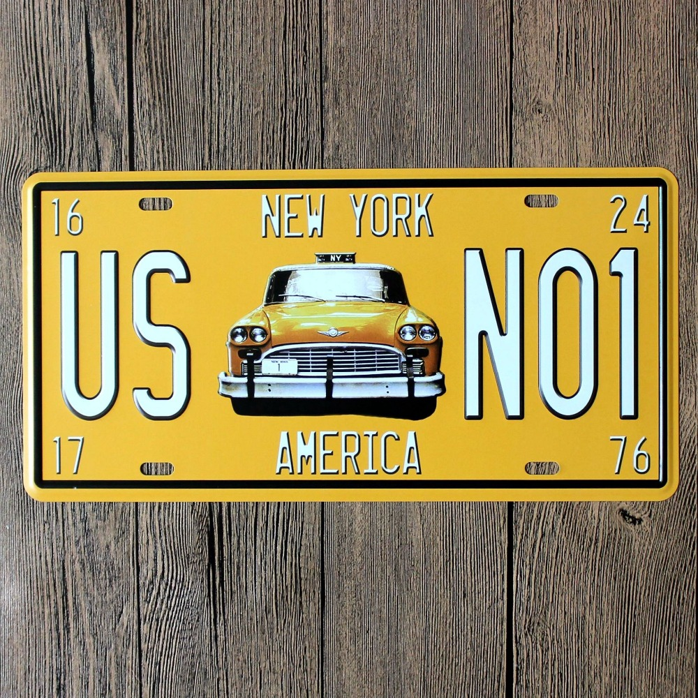 Retro Metal Painting Vintage Wall Sticker in plaques & signs Home ...