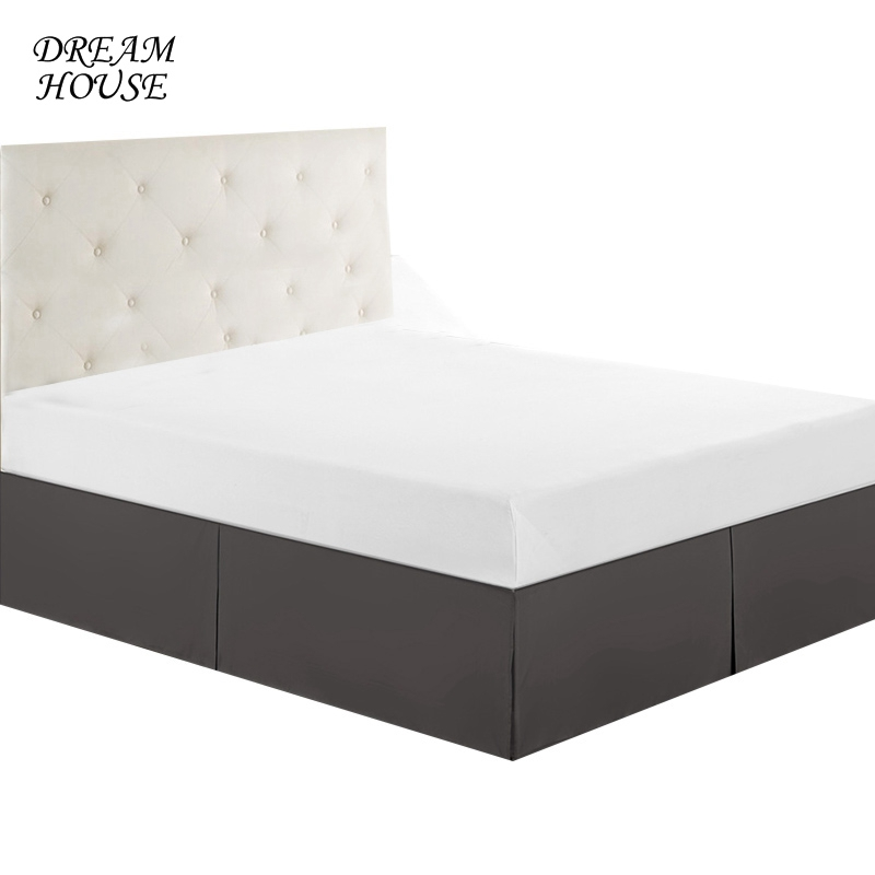 Queen Size Bed Skirt Wedding Elastic Bed Covers without Surface Bed Skirt for Home Hotel Bedspread Bedroom Bedsheet 6 Colors