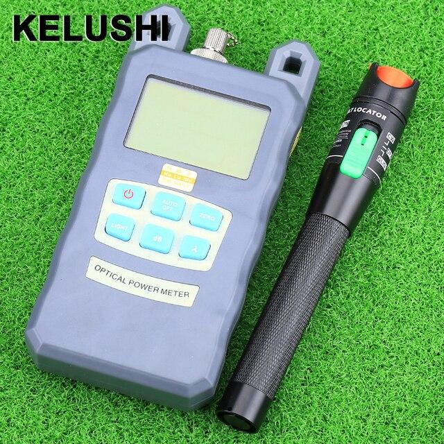 KELUSHI Оптическое Волокно Измеритель Мощности-70dBm ~ + 10 дбм Волоконно-Оптической Мощности И 30 МВт 20 КМ Визуальный Fault Locator Волоконно-Оптический Кабель Тестер