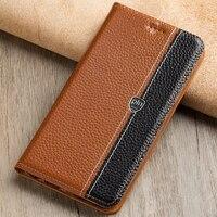Cho ZTE Blade A6 Trường Hợp Lật Đứng Từ Điển Chất Lượng Cao Genuine Leather Bìa Điện Thoại Bag + Quà Tặng Miễn Phí