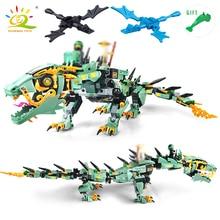 Nieuwe 592 stks Movie Serie DIY 3D Vliegende Mecha Dragon Cijfers Model Bouwstenen Compatibel Legoed Ninjagoes Bricks Hobbit Speelgoed