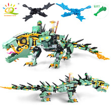 New 592pcs Movie Series DIY 3D Flying Mecha Dragon Figures Model Building Blocks Compatible Legoed Ninjagoes Bricks Hobbit Toys(China)