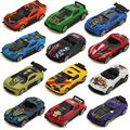 New Hot sale Flame Charge Original Mini Cute Race Cars 1:60 Mini Alloy Slide Car Model 12 styles Wholesale Vehicles 6pcs/lot