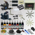 OPHIR 346pcs Whole Set Complete Tattoo Kit 2 Tattoo Machine Guns Set Body Art Equipment 9x30ml Ink Pigment Needles Nozzles_TA071