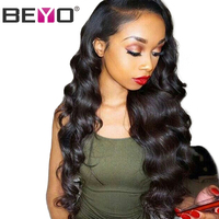 Beyo Lace Front Human Hair Wigs For Black Women Body Wave Lace Wig With Baby Hair Malaysian Lace Front Wig Remy Hair 10 26