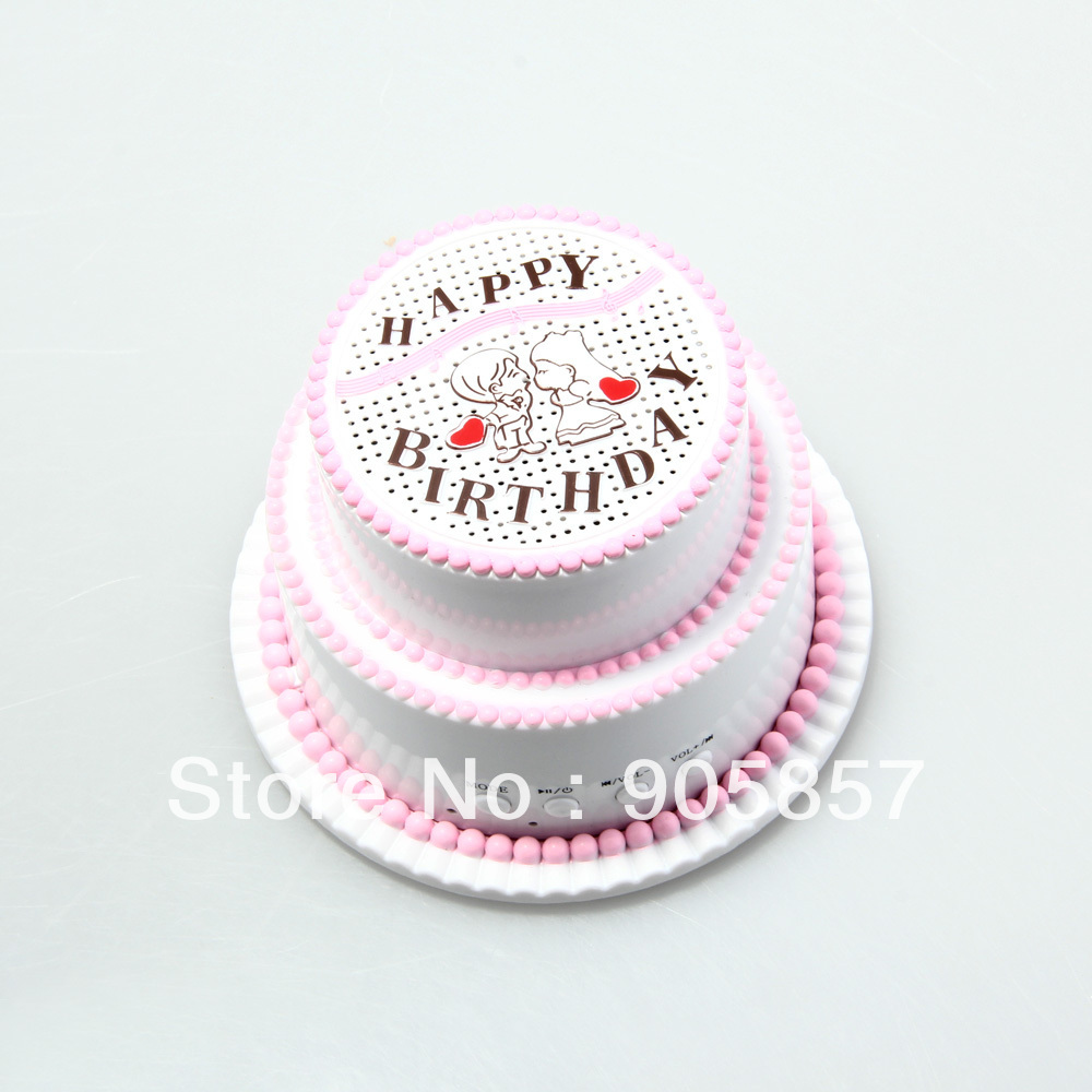 Swell Happy Birthdaycake U Disk Tf Card Mini Portable Speaker System Funny Birthday Cards Online Eattedamsfinfo