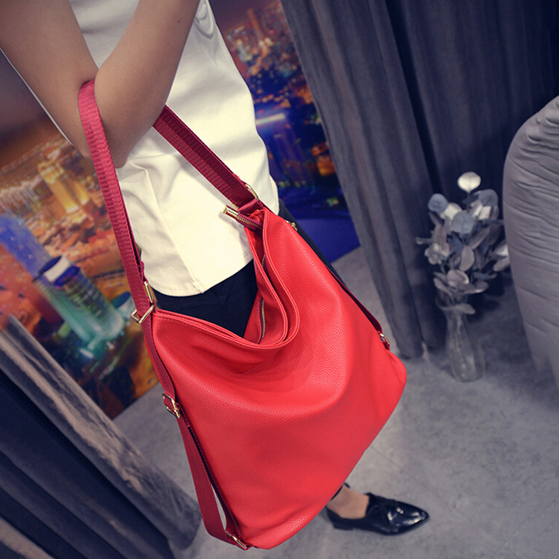 Fashion Large Pocket Casual Tote Women's Handbag Shoulder Handbags PU Leather Capacity Bags For Women