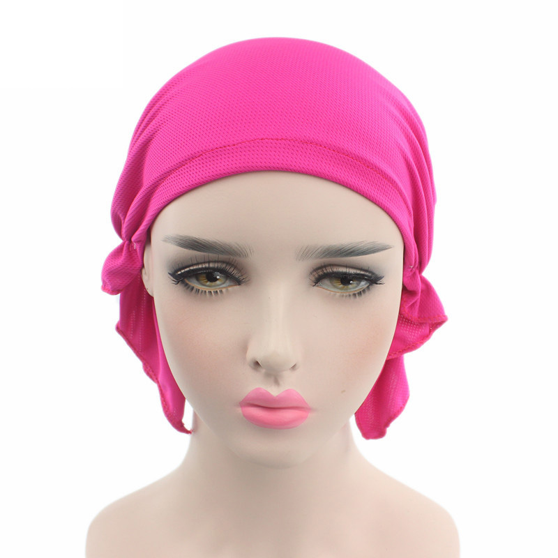 5pcs Breathable Polyester Spandex Muslim Turban Turbante Skullies Beanies Beanie For Women Cancer Patients Hijab Wraps Hats Caps skullies