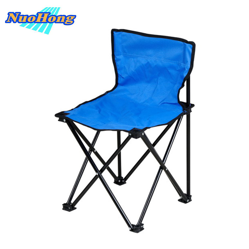 NUOHONG 2017 Folding Fishing Chair Fashion Outdoor Furniture Tourist Camping Chairs Stainless Steel Metal Quadrilateral Chair outdoor traveling camping tripod folding stool chair foldable fishing chairs portable fishing mate fold metal chair