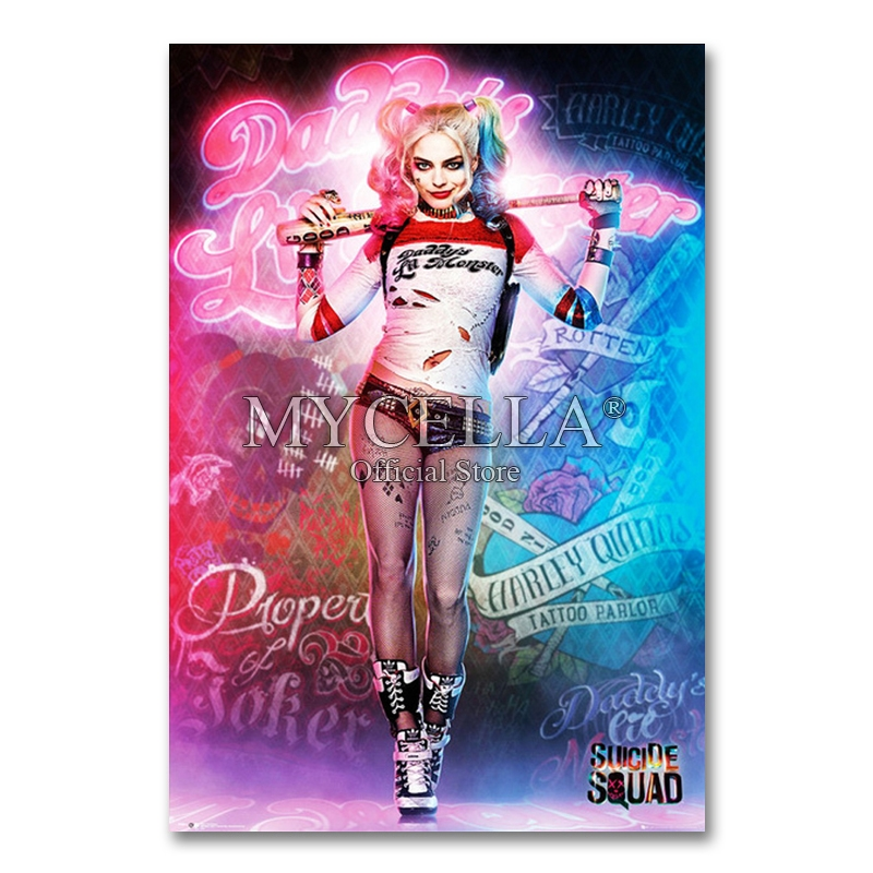 5D Diy <font><b>Diamond</b></font> <font><b>Painting</b></font> Harley Quinn Suicide Squad Superhero <font><b>Diamond</b></font> Embroidery Movie <font><b>Sexy</b></font> Picture Mosaic Home Decoration image