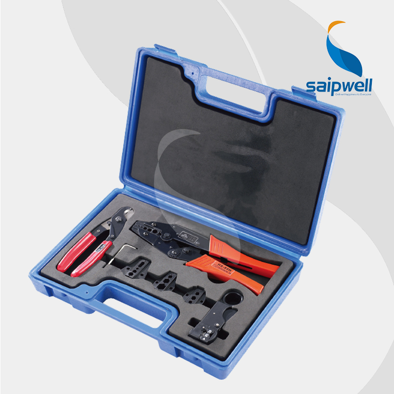 Combination Tools in Plastic Box /Complete Tool Box Set for Coaxial Cable wtih 4 Die Set (SP-LY05H-5A2) ly05h 5a2 combination tools crimping pliers wire cutters 4 die sets