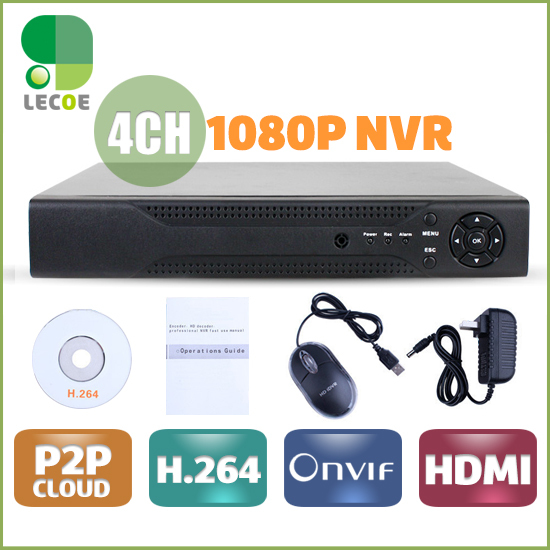 4 Channel cctv Network Video Recorder 1080p IP NVR 4CH Support ONVIF 2.0  H.264 HDMI cctv nvr for ip camera стол компьютерный васко кс 2033 м3 дуб беленый