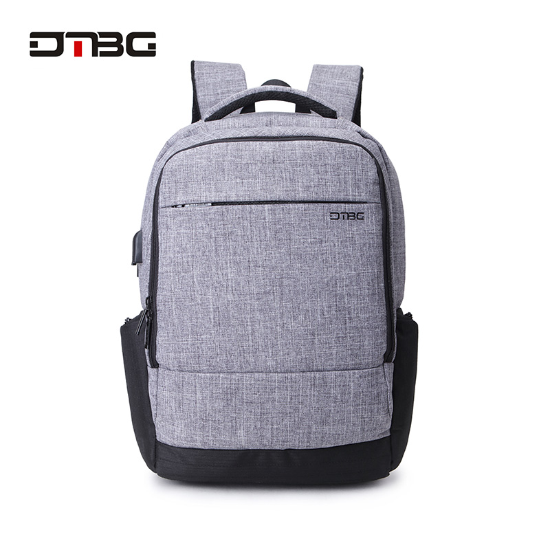 DTBG Canvas Backpack for 17.3 Inch Laptop Smart Travel Rucksack With USB Charging Port Anti Theft Plecak Bagpack Mochilas Sac dtbg smart usb laptop backpack large capacity school bags for teens anti theft large capacity travel mochila sac rugzak plecak