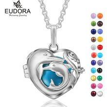 Eudora гармония дельфин семья сердце плавающий медальон клетка