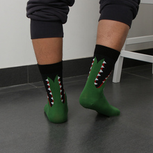 Retro Men Casual Elastic Socks Autumn Winter Warmer Cotton Sock Novelty Funny Art Painting Christmas socks