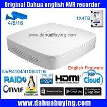 Оригинальный Английский Прошивки DAHUA NVR4104/NVR4108/NVR4116 Смарт 1U Мини 1080 P 4-канальный 8-канальный 16-канальный с onvif сети video recorder