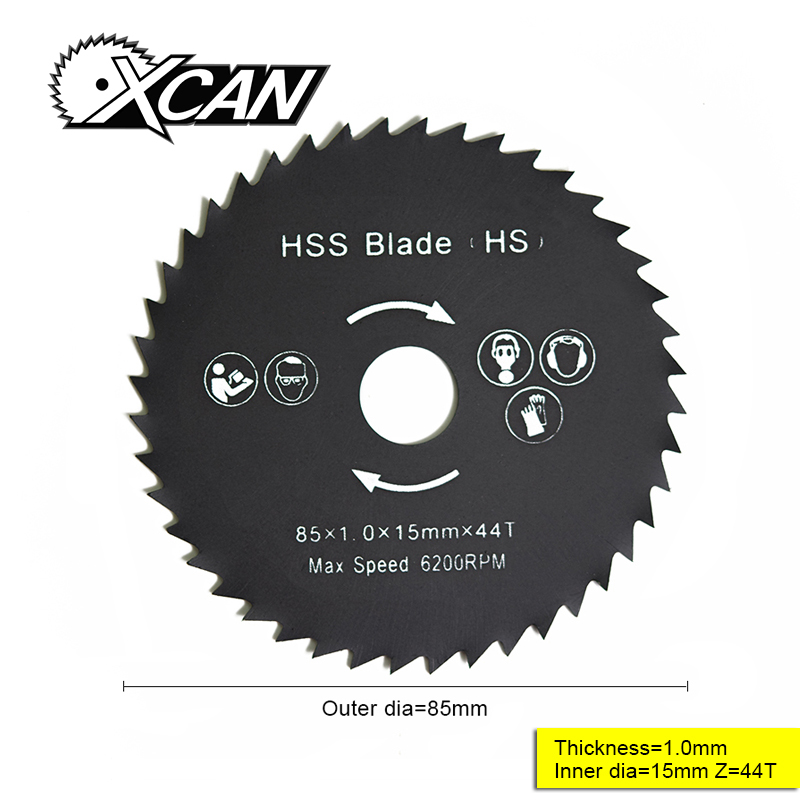 XCAN 1pcs 85*1.0*15mm High Speed Steel 44Teeth Saw Blade For Woodworking Multipurpose Wood Circular Saw Blade